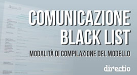 Comunicazione black list: le istruzioni per la compilazione del modello