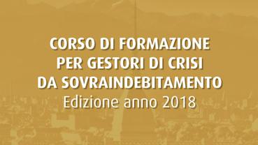 Corso per gestori della crisi da sovraindebitamento - 2018