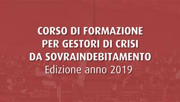 Corso per gestori della crisi da sovraindebitamento - 2019